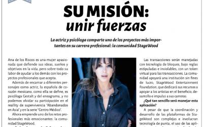 "StageWood Ambassador: Ana de los Riscos for ""COSAS"" Magazine"